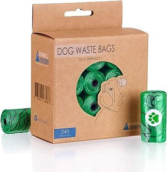 Animal Buddy 240 Bolsas biodegradables para Caca de Perro amigable ...