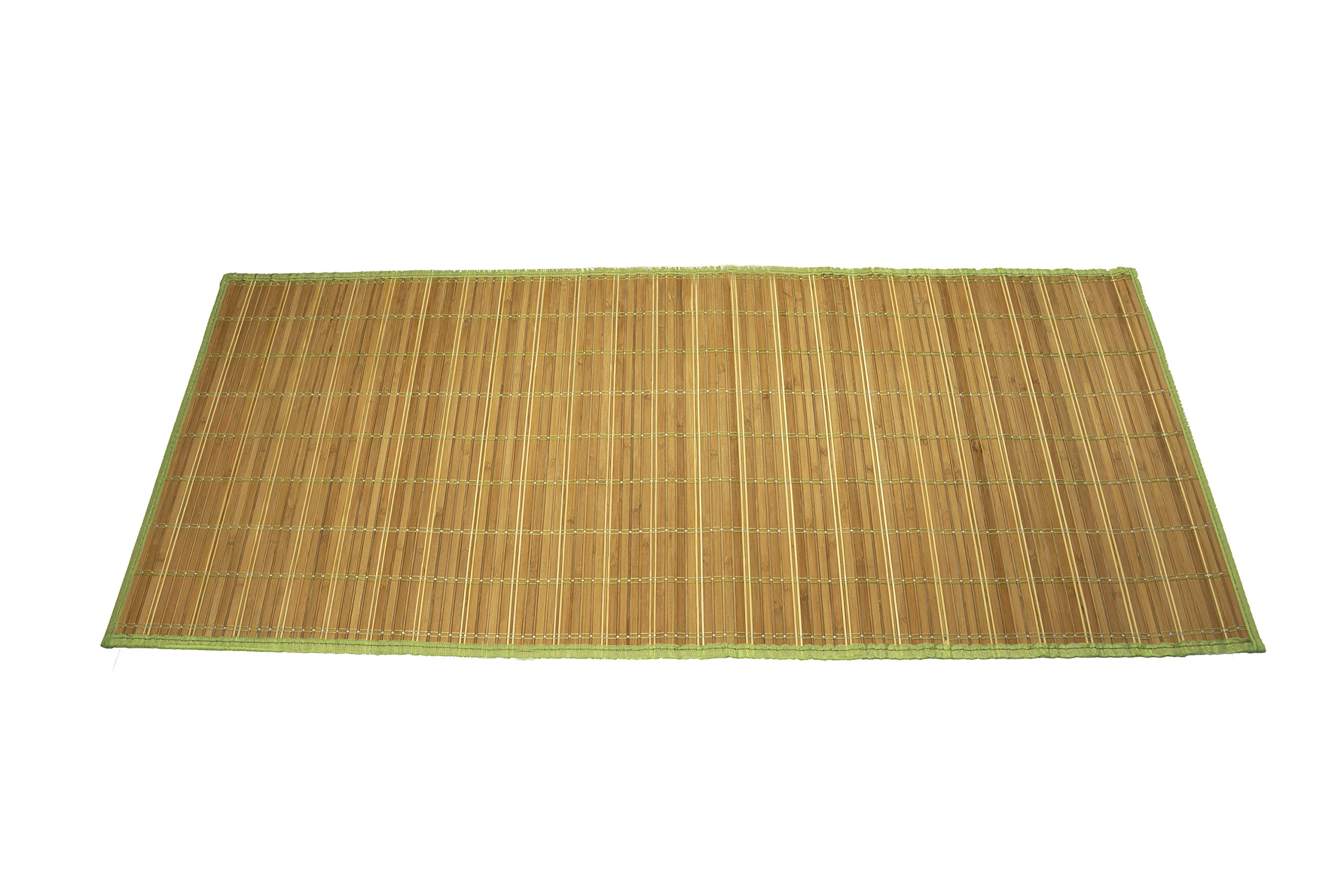 Emerald Wholesale Bamboo Mat Runner with Foam Non-Skid Backing, 24 x 60, Green