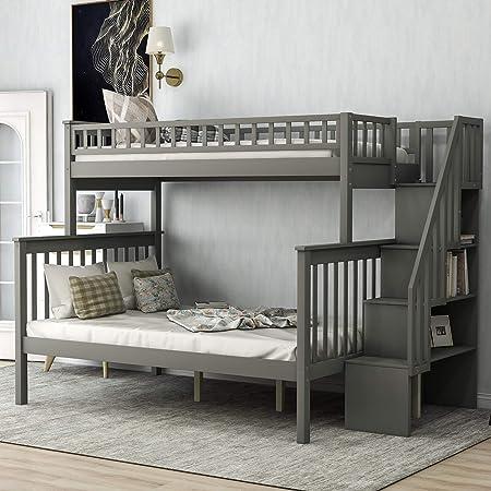 Litera de Escalera Completa para niños con 4 cajones en los escalones: Amazon.es: Hogar