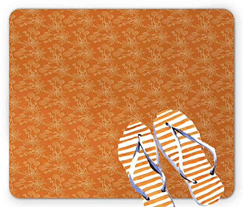 Indoor Door Mat Burnt Orange, 23.6 x15.7 inch Entryway Door Carpet Rug for Front Door Outdoor Bathroom Bedroom, Latex Backing Non Slip Entrance Rug 1D354