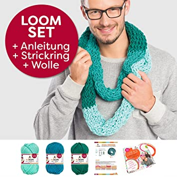 Myboshi Handarbeits Set Loom Set Loop Schal Granada Strickring