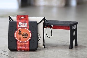 Strange Tip Pee Toe Step Stool And Carrying Case Black Machost Co Dining Chair Design Ideas Machostcouk