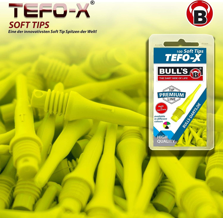 Bulls Adult Yellow tefo-x Soft Tips 6 mm 100 neon