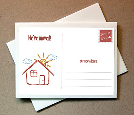 we ve moved moving cards 15 flat cards and envelopes new address