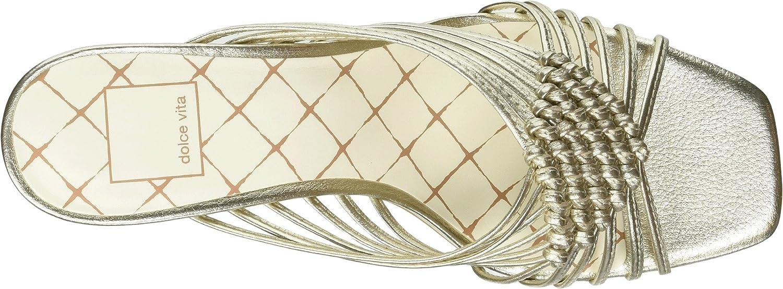 Dolce Vita Women's Delana Slide Sandal B07B9L1Y5G 11 B(M) US Light Gold Leather