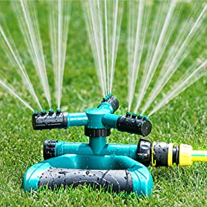 CTH Lawn Sprinkler Automatic 360 Degree Rotating Adjustable Garden Sprinklers for Yard Large Area Coverage Water Sprinklers for Lawns and Gardens