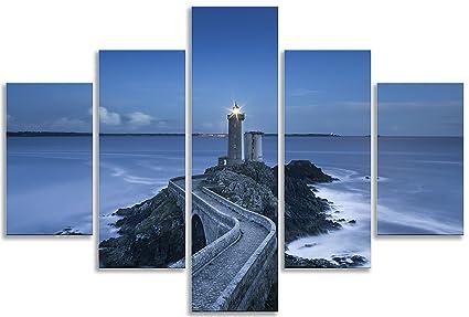 Paisaje marino faro océano azul para sala de estar cuarto de baño ...