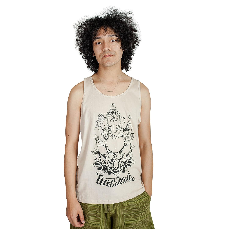 Lakhays Ganesha Wisdom Mens Muscle Cotton Tank Top