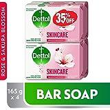 Dettol Skin Care Anti-bacterial Bar Soap 165gm Pack of 4 @35% OFF