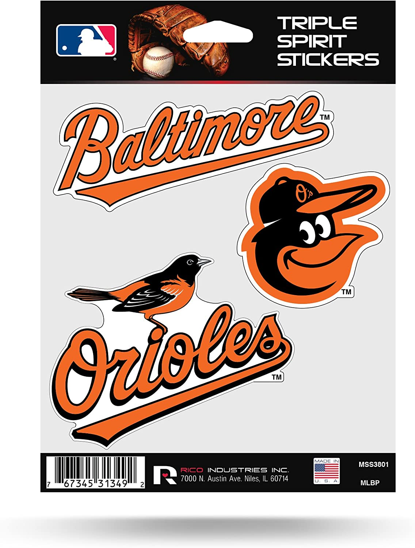 Rico MLB Orioles Triple Spirit Stickers