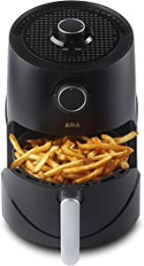 Aria Air Fryers CCB-883 Aria Ceramic Air Fryer, 3Qt, Lux Black