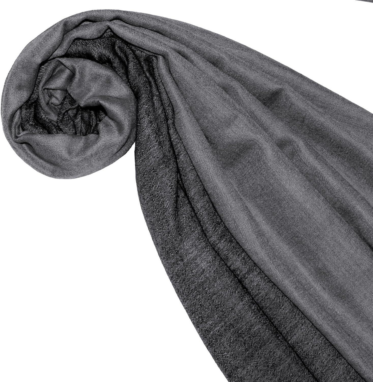 70 cm x 200 cm leicht kuschelweich Kaschmirschal Kaschmirtuch Double Face schwarz grau zweifarbig 7837611 LORENZO CANA Luxus Herrenschal Wendeschal Schal Schaltuch 100/% Kaschmir