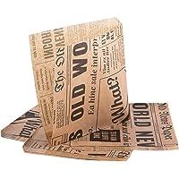 Oldnews (förpackning med 50) hantverk 150 x 150 mm pappersfest varor 15 x 15 cm säckväskor lunchförvaring behållare mat…