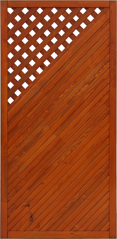 Andrewex wooden fence,fencing panel, garden fence 180 x 90, varnished, teak,