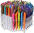 Marketing Holders Clear 120 Slot Table Top Counter Top Pen / Sharpie / Paint Brushes / Makeup Brushes / Lip Liner / Eye Liner Holder Display
