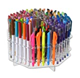 Marketing Holders Rotating Clear 120 Slot Table Top Counter Top Pen Paint Brushes Makeup Brushes Lip Liner Eye Liner Holder Display