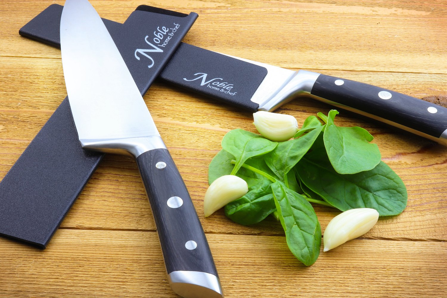 """2-Piece Universal Knife Edge Guards (8.5"""" and 10.5'') are More Durable, BPA-Free, Gentle on Your Blades, and Long-Lasting. Noble Home & Chef Knife Covers Are Non-Toxic and Abrasion Resistant! (Knives N by Noble Home & Chef (Image #3)"""
