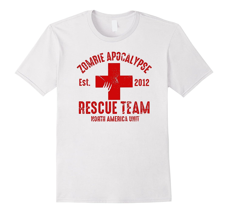 Zombie Rescue Team T-Shirt - Funny Apocalypse Halloween TEE-CL