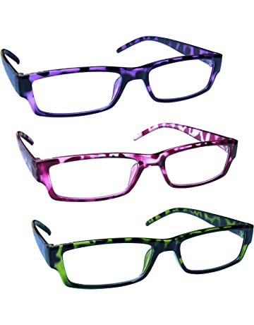 930ad05ed48 The Reading Glasses Company Purple Pink Green Lightweight Comfortable  Readers Value 3 Pack Mens Womens RRR32