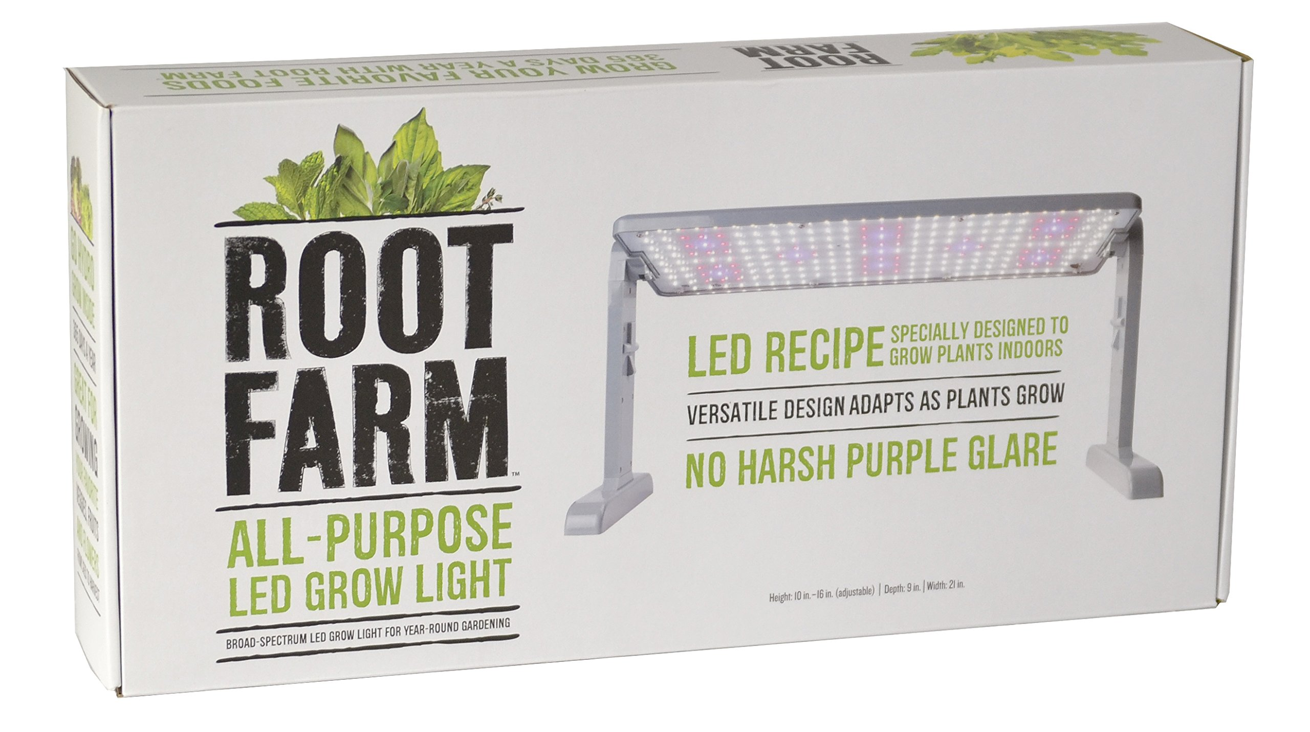 Root Farm All-Purpose LED Grow Light, 45W - Broad Spectrum Grow Lamp, For Indoor Hydroponic Plants, Energy Efficient by Root Farm
