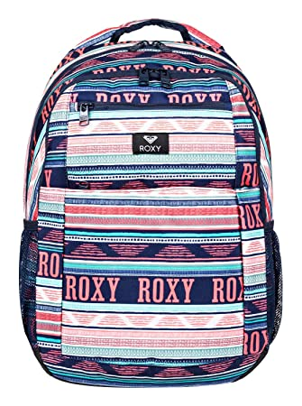 Roxy Here You Are Mochila Mediana, Mujer, Verde/Blanco (Bright White AX Boheme Border), 23.5 l: Amazon.es: Deportes y aire libre