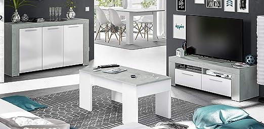Miroytengo Pack Muebles salón Plutón diseño Moderno (Mesa TV + ...