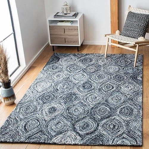 Safavieh Ikat Collection IKT631F Handmade Wool Area Rug