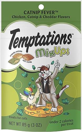 TEMPTATIONS MixUps ShakeUps Crunchy and Soft Cat Treats, 2.5 – 3 oz. 12 Pack