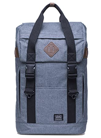 Mochila para portátil de 15 pulgadas KAUKKO Bolso escuela de moda Mochila de viaje casual Mochila multifuncional ligera (gris): Amazon.es: Equipaje