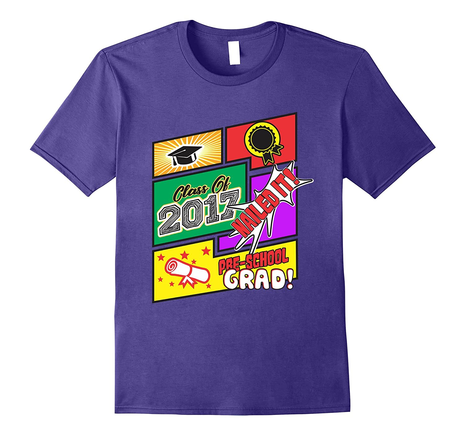 2017 Preschool Graduation T Shirt For Kids Boys Girls Gift-CD