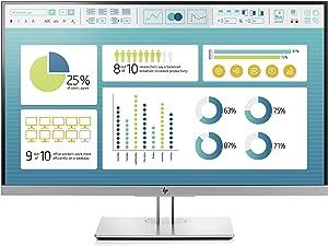 HP EliteDisplay E273 27-Inch Screen LED-Lit Monitor Black/Silver (1FH50A8#ABA) (Renewed)