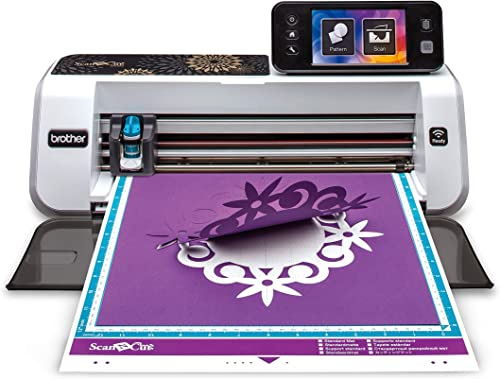 Brother CM350E ScanNCut 2 Cutting Machine with Scanner, Make DIY Vinyl Wall Décor, Custom Stickers and Stencil Sheets
