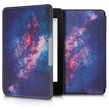 kwmobile Funda para Amazon Kindle Paperwhite - Carcasa para e-Reader de [Cuero sintético] - Case con diseño de Estrellas en la Galaxia (para Modelos ...