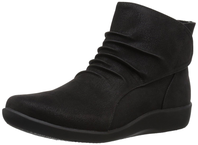 CLARKS Women's Sillian Sway Ankle Bootie B01MQVPYSM 6.5 B(M) US|Black