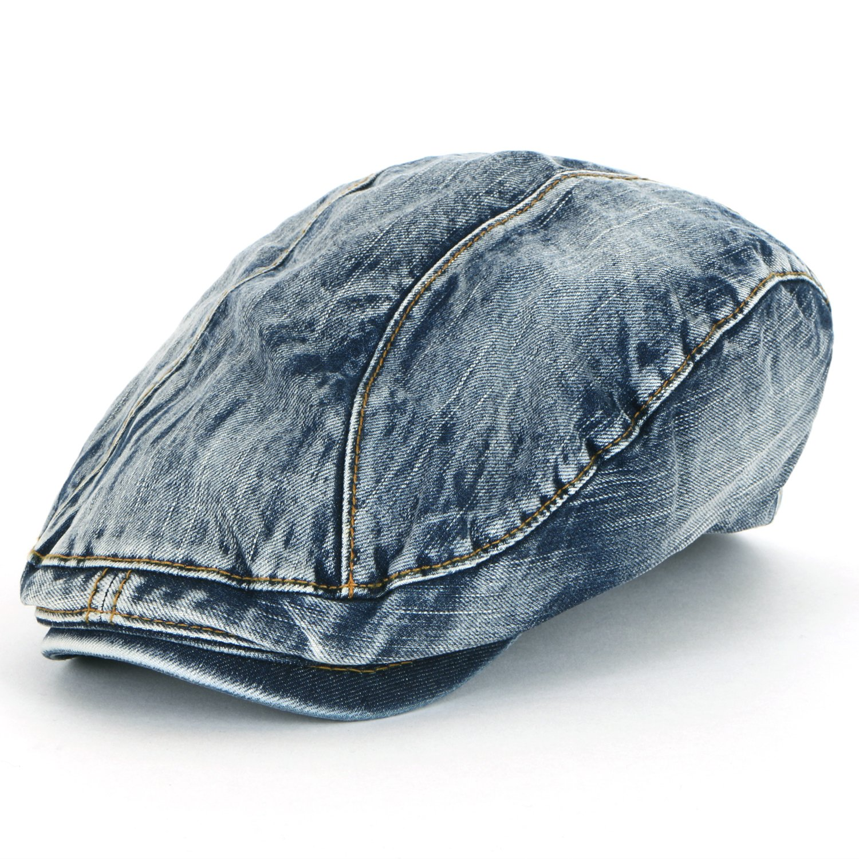 bester Wert sehr bekannt heiße Angebote ililily Denim Newsboy Flat Cap Gatsby Caps Ivy Irish Cabbie Hats Driver  Hunting Hat (flatcap-514)