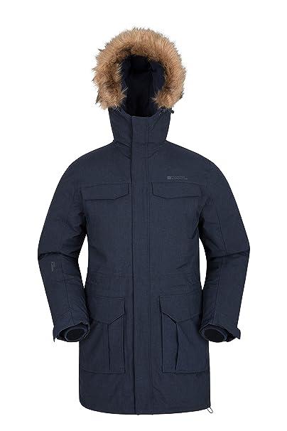 Mountain Warehouse Chaqueta Acolchada para Hombre Sub Zero - Chaqueta Impermeable, Abrigo de Invierno Transpirable, Costuras Selladas, Aislamiento, ...