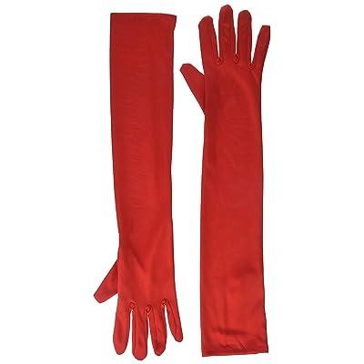 Forum Novelties 51547 Long Nylon Gloves, Red: Toys & Games