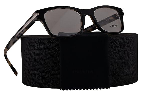6033e7c3519 Prada Journal PR16SV Eyeglasses 54-18-140 Top Black With White Havana  w Demo Clear Lens ROK1O1 VPR16S VPR 16S PR 16SV  Amazon.co.uk  Clothing