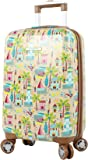 """Lily Bloom Hardside Luggage 20"""" Carry On Design Pattern Spinner Suitcase For Woman"""