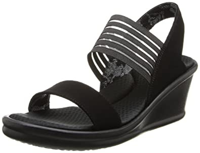 Skechers Cali Women's Rumblers Sci-Fi Wedge Sandal,Black,5 ...