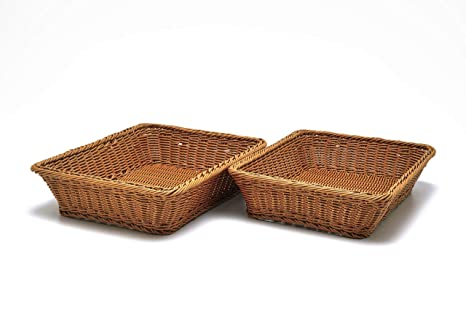 Amazon Com 2 Pc Set Of Rectangular Baskets For Tabletop Or Counter