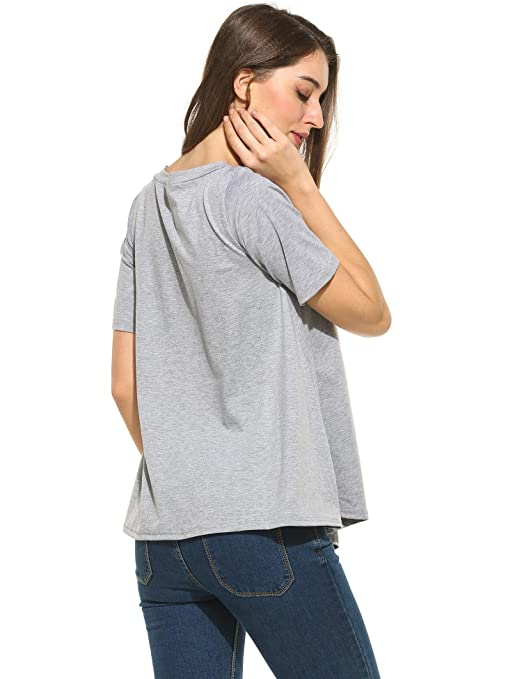6614891788460 carsget Black Slim fit Tunic Top Tee Cheap Good Quality Cute and Stylish  Tunics Comfy Tunic Tops Oversized tee for Women Pregnancy Conceived Knits    Tees at ...