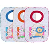 Littly T-shirt Style Baby Bibs (Pack of 3, Multicolor)