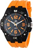 Joshua & Sons Men's JS-36-OR Bold Swiss Quartz Silicon Strap Watch