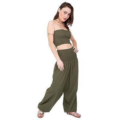7e545f819f0 2 in 1 Cotton Harem Pants or Bandeau Jumpsuit