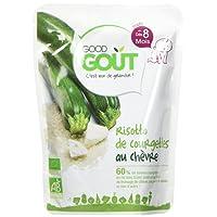 Good Goût - BIO - Risotto de Courgettes au Chèvre dès 8 Mois 190 g - Lot de 4