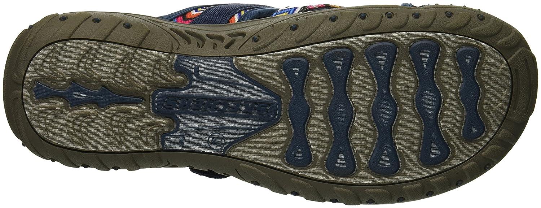 Skechers Women's Reggae-Zig Swag Sandals Flip-Flop B07B58LKXP 5.5 W US|Navy
