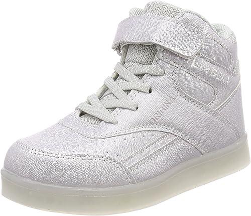 L.A. Gear FLO Lights, Zapatillas de Baloncesto Unisex niños, Gris ...