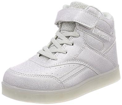 63dc6362b7bc L.A. Gear Unisex Kids  FLO Lights Basketball Shoes