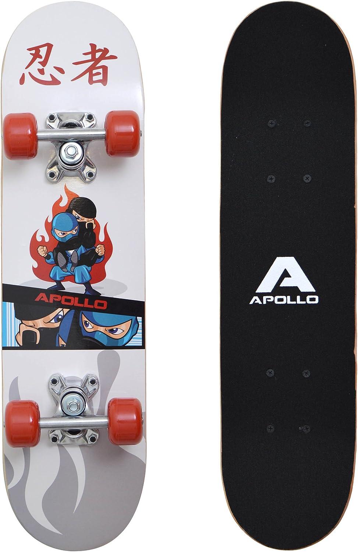 Apollo Kinder Skateboard, kleines Komplett Board mit ABEC 3 Kugellagern und Aluminium Achsen kaufen